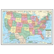 Universal Map 40 x 28 Inch Us Laminated - Rolled Map(RTL249022)