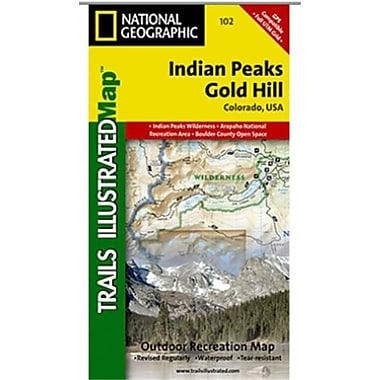National Geographic Map Of Indian Peaks-Gold Hill - Colorado(NGS317)
