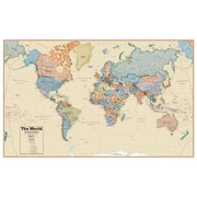 WaypointGeographic Boardroom World 1:27 Wall Map(WPGR052)