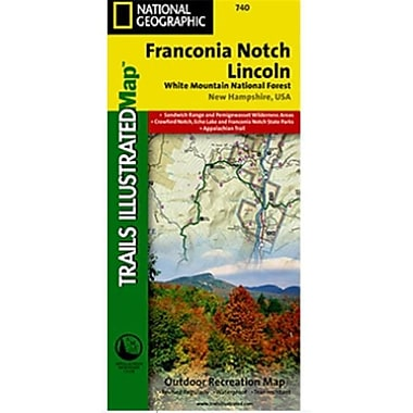 National Geographic Map Of Franconia Notch-North Conway - New Hampshire(NGS248)