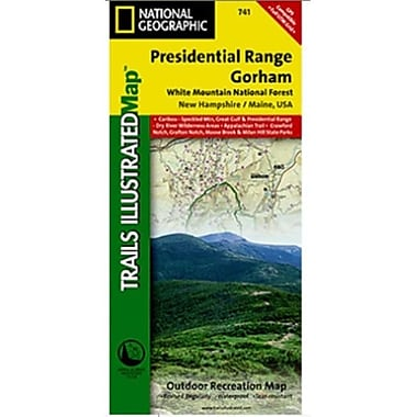 National Geographic Map Of Presidential Range-Gorham - New Hampshire(NGS249)