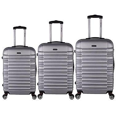 World Traveler California II 3-Piece Hardside TSA Spinner Luggage Set, Silver(ECWE2916)