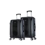 InUSA 23 & 27 in. Southworld Lightweight Hardside Spinner Luggage, Dark Gray Brush - 2 Piece Set(RTA212)