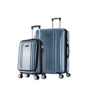 InUSA 19 & 23 in. Southworld Lightweight Hardside Spinner Luggage, Blue Carbon - 2 Piece Set(RTA203)
