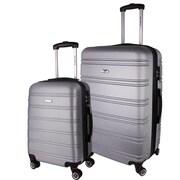 World Traveler Bristol II Hardside 2-Piece Spinner Luggage Set, Silver(ECWE2905)