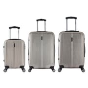 InUSA 18, 22 & 26 in. San Francisco Lightweight Hardside Spinner Luggage, Champagne - 3 Piece Set(RTA135)