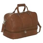 Piel Leather False-Bottom Sports Bag - Saddle(PIEL1498)