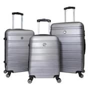 World Traveler Montreal 3-piece Hardside TSA Spinner Luggage Set - Silver(ECWE2897)