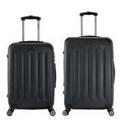 InUSA 23 & 27 in. Philadelphia Lightweight Hardside Spinner Luggage, Black - 2 Piece Set(RTA151)