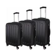 World Traveler Milan 3-Piece Hardside TSA Spinner Luggage Set, Black(ECWE2898)