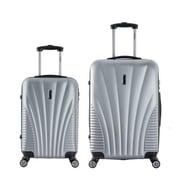 InUSA 21 & 25 in. Chicago Lightweight Hardside Spinner Luggage, Silver - 2 Piece Set(RTA178)