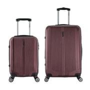 InUSA 18 & 26 in. San Francisco Lightweight Hardside Spinner Luggage, Wine - 2 Piece Set(RTA142)