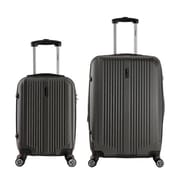 InUSA 18 & 26 in. San Francisco Lightweight Hardside Spinner Luggage, Charcoal - 2 Piece Set(RTA140)