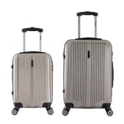 InUSA 18 & 26 in. San Francisco Lightweight Hardside Spinner Luggage, Champagne - 2 Piece Set(RTA141)