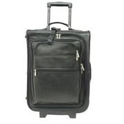 Piel Black 19In Multi-Pocket Wheeler(PIEL075)
