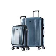 InUSA 19 & 27 in. Southworld Lightweight Hardside Spinner Luggage, Blue Carbon - 2 Piece Set(RTA207)