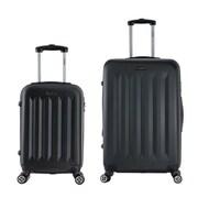 InUSA 19 & 27 in. Philadelphia Lightweight Hardside Spinner Luggage, Black - 2 Piece Set(RTA153)