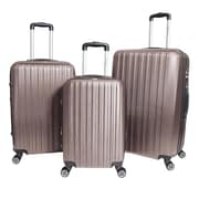 World Traveler Barcelona 3-Piece Hardside TSA Spinner Luggage Set, Champagne(ECWE2901)