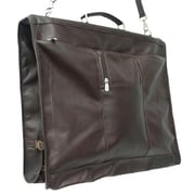 Piel Leather Garment Bag with Detachable Hook - Chocolate(PIEL036)