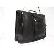 Piel Black Expandable Garment Bag(PIEL029)