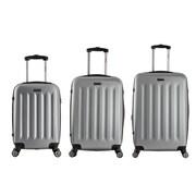 InUSA 19, 23 & 27 in. Philadelphia Lightweight Hardside Spinner Luggage, Grey - 3 Piece Set(RTA150)