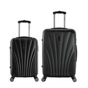 InUSA 21 & 25 in. Chicago Lightweight Hardside Spinner Luggage, Black - 2 Piece Set(RTA177)
