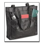 Embassy Italian Stone Design Genuine Leather Shopping/Travel Bag with outside pockets on b(BNF843)