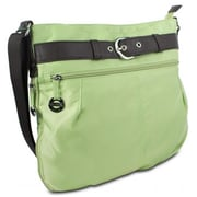 Travelon 305232 Nylon Adjustable Hobo with Belt Detail, Hemlock Mint(XS305232)