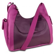 Travelon 314986 Oversized Everyday Hobo Style Bag With RFID Protection-Berry-Wine(XS314986)