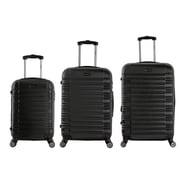 InUSA 20, 24 & 28 in. New York Lightweight Hardside Spinner Luggage, Black - 3 Piece Set(RTA160)