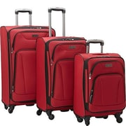 Heritage Travelware 20 x 24 x 28 in. Wicker Park 4 Wheel Upright Luggage Bag Set , 3 Pieces - Barn Red(HTR407)