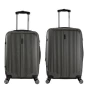 InUSA 22 & 26 in. San Francisco Lightweight Hardside Spinner Luggage, Charcoal - 2 Piece Set(RTA137)