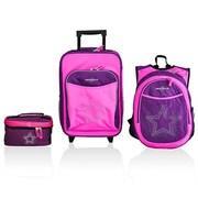 Obersee Little Kids 3 Piece Luggage Set - Bling Rhinestone Star(HLMN185)