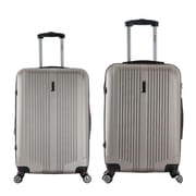 InUSA 22 & 26 in. San Francisco Lightweight Hardside Spinner Luggage, Champagne - 2 Piece Set(RTA138)
