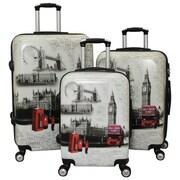 World Traveler TSA Lock Hardside Spinner Luggage Set - London - 3 Piece(ECWE2883)