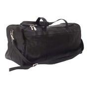 Piel Black Medium Travel Duffel Bag(PIEL298)