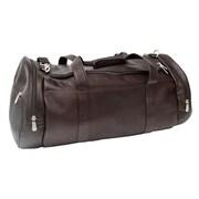 Piel Leather Gym Bag with Detachable Shoulder Strap - Chocolate(PIEL291)