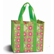 Picnic Plus Coated canvas carry all shopping, travel tote - Green Gazebo(PIPL1323)
