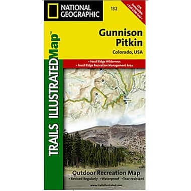 National Geographic Map Of Gunnison-Pitkin - Colorado(NGS198)
