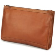 Claire Chase Zippered Folio Pouch - Saddle(CLRCS149)