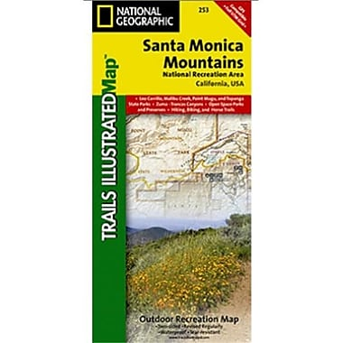 National Geographic Map Of Santa Monica Mountains - California(NGS375)
