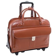 McKlein 15.6 in. Lakewood Leather Fly Friendly Detachable Wheeled Ladies Briefcase, Brown - 17 x 6 x 13.25 in.(MCKLN520)