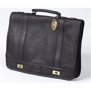 Claire Chase Leather Messenger Briefcase - Cafe(CLRCS027)