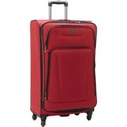 Heritage Travelware 28 in. Wicker Park 4 Wheel Upright Luggage Bag with Two Outside Accessory Pockets - Barn Red(HTR405)