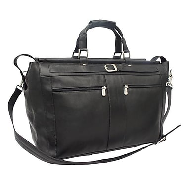 Piel Black Carpet Bag with Pockets(PIEL287)