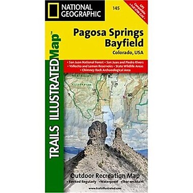 National Geographic Map Of Pagosa Springs-Bayfield - Colorado(NGS342)
