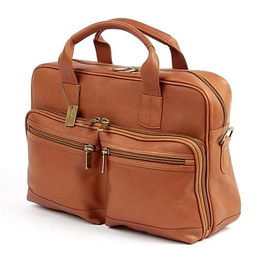 Claire Chase Santorini Briefcase, Saddle(CLRDS227)