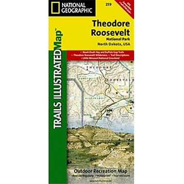 National Geographic Map Of Theodore Roosevelt National Park - North Dakota(NGS231)