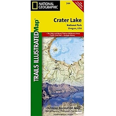 National Geographic Map Of Crater Lake National Park - Oregon(NGS371)