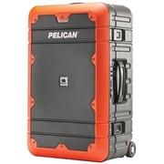 Pelican 22 in. Carry-On Luggage, Gray with Orange(PETRA19722)